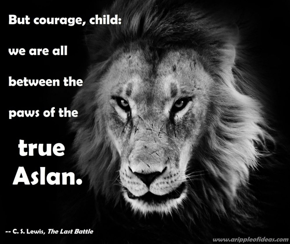 Between the Paws of the True Aslan